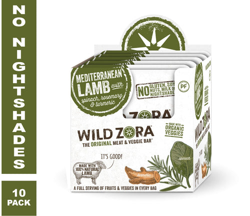 Wild Zora - Mediterranean Lamb - Meat and Veggie Bars (10-pack)