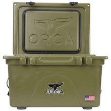 Load image into Gallery viewer, ORCA ORCG026 Cooler with Extendable flex-grip handles for comfortable solo or tandem portage, 26 quart, Green - Omigod, Dibs!™