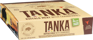 Bison Pemmican Meat Bar with Buffalo and Cranberries by Tanka, Gluten Free, Beef Jerky Alternative, Slow Smoked Original, 1 Ounce Bar, Pack of 12 - Omigod, Dibs!™