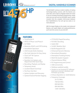 Uniden BCD436HP HomePatrol Series Digital Handheld Scanner