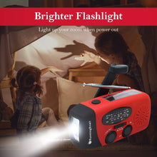 Load image into Gallery viewer, RunningSnail Emergency Hand Crank Self Powered AM/FM NOAA Solar Weather Radio with LED Flashlight