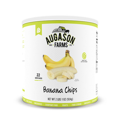 Augason Farms Banana Chips 2 lbs 1 oz No. 10 Can - Omigod, Dibs!™