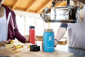Hydro Flask 16 oz Travel Coffee Flask | Stainless Steel & Vacuum Insulated | Wide Mouth with Hydro Flip Cap | Olive - Omigod, Dibs!™