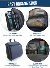 Load image into Gallery viewer, Large Hanging Travel Toiletry Bag for Men and Women