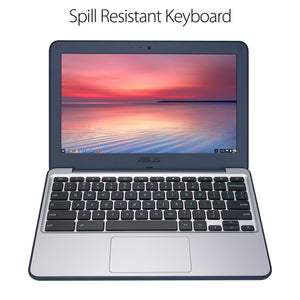 "ASUS Chromebook C202SA-YS02 11.6"" Ruggedized and Water Resistant Design with 180 Degree (Intel Celeron 4 GB, 16GB eMMC, Dark Blue, Silver) - Omigod, Dibs!™"