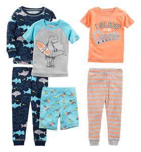 Simple Joys by Carter's Baby Boys' Toddler 6-Piece Snug Fit Cotton Pajama Set