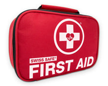 Load image into Gallery viewer, Swiss Safe 2-in-1 First Aid Kit (120 Piece) + Bonus 32-Piece Mini First Aid Kit: Compact, Lightweight for Emergencies at Home, Outdoors, Car, Camping, Workplace, Hiking & Survival