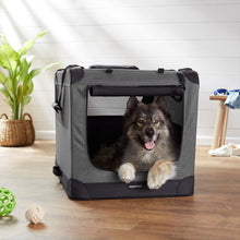 "Load image into Gallery viewer, AmazonBasics Premium Folding Portable Soft Pet Crate - 36"", GREY - Omigod, Dibs!™"