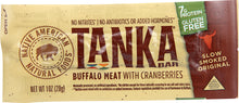 Load image into Gallery viewer, Bison Pemmican Meat Bar with Buffalo and Cranberries by Tanka, Gluten Free, Beef Jerky Alternative, Slow Smoked Original, 1 Ounce Bar, Pack of 12 - Omigod, Dibs!™