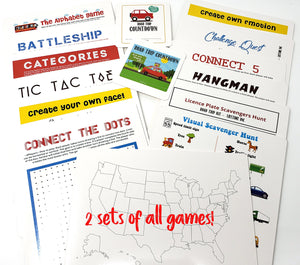Road Trip Travel Games Activities