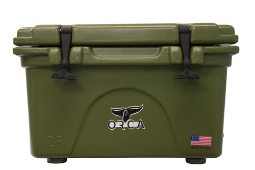 ORCA ORCG026 Cooler with Extendable flex-grip handles for comfortable solo or tandem portage, 26 quart, Green - Omigod, Dibs!™