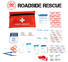 Load image into Gallery viewer, Roadside Emergency Assistance Kit - Packed 110 Premium Pieces & Rugged Bag - Car, Truck & RV Kit with Heavy Duty Jumper Cables • Heavy Duty Tow Strap • Safety Triangle • First Aid & more