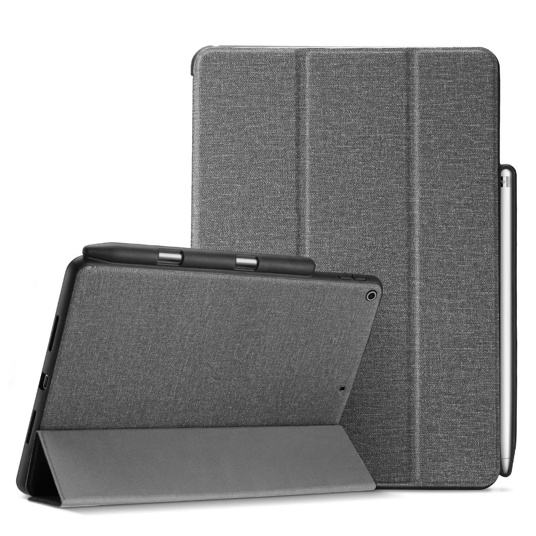 ProCase iPad 9.7 Case, Slim Folio Stand Protective Case Smart Cover for iPad 9.7 2018 iPad 6th Generation / 2017 iPad 5th Generation with Apple Pencil Holder –Grey - Omigod, Dibs!™