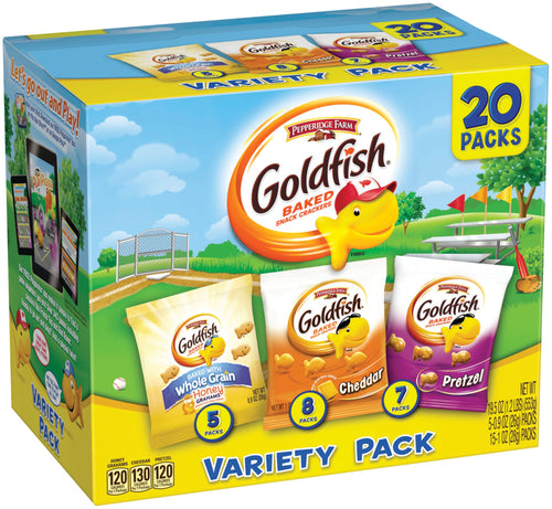 Pepperidge Farm, Goldfish, Crackers, Sweet & Savory, Variety Pack (20 Count)