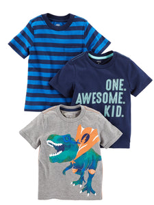 Simple Joys by Carter's Baby Boys' Toddler 3-Pack Graphic Tees
