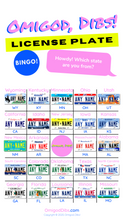 Load image into Gallery viewer, Omigod, Dibs!™ Printable License Plate Bingo Games (3 games)