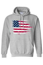 Load image into Gallery viewer, Unisex Battle Ripped USA Pullover Hoodie