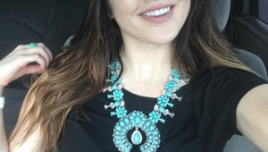 Large Resin Stone Tribal Statement Necklace