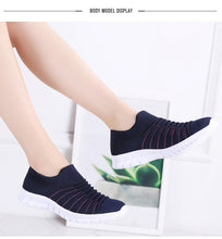 Load image into Gallery viewer, Women's Breathable Ribbed Fly Weave Slip-On Shoes