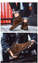 Load image into Gallery viewer, Men's British Style Hand Stitched Leather Ankle Boots