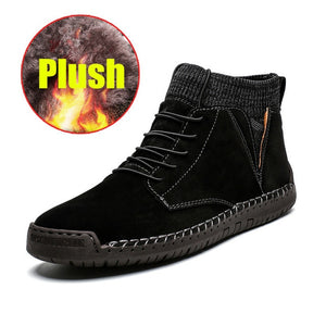Men's British Style Hand Stitched Leather Ankle Boots