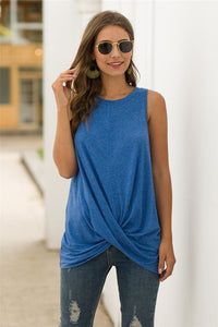 Women's Crossed Front Hem Tank Top