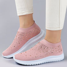 Load image into Gallery viewer, Women's Rhinestone Air Mesh Slip-On Shoes