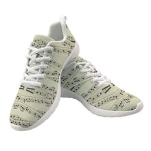 Load image into Gallery viewer, Women's Music Notes Air Mesh Shoes