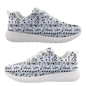 Women's Music Notes Air Mesh Shoes