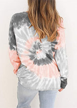 Load image into Gallery viewer, Women's Tie-dye Long Sleeve T-Shirt