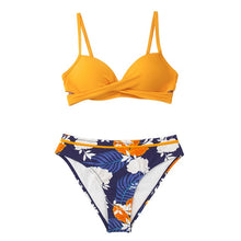 Load image into Gallery viewer, Push Up Wrap Two Piece Bikini Set