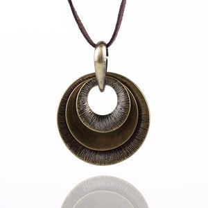 Circle Pendants Necklace