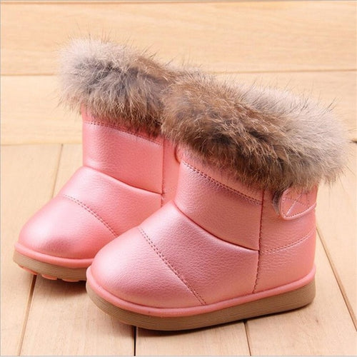 COZULMA Baby Winter Plush Snow Boots