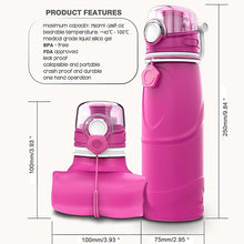 Load image into Gallery viewer, TEENRA 750ML Collapsible Silicone Water Bottle