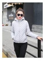 Load image into Gallery viewer, Vangull Women's Winter Hooded Cotton Jacket
