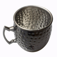 Load image into Gallery viewer, Black Drum Stainless Steel Hammered Mug