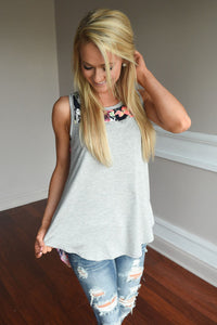 Casual Sleeveless Loose Floral Tank Top - Omigod, Dibs!™