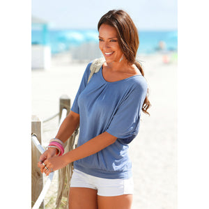 Summer Casual O-Neck Lace T-Shirt