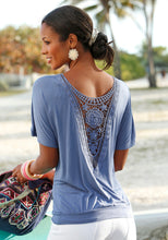 Load image into Gallery viewer, Summer Casual O-Neck Lace T-Shirt