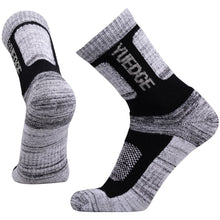 Load image into Gallery viewer, YUEDGE 5 Pairs Men's Cotton Cushion Outdoor Crew Socks