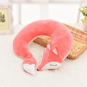 Lovely Fox Cotton Plush U-Shape Travel Neck Pillow - Omigod, Dibs!™