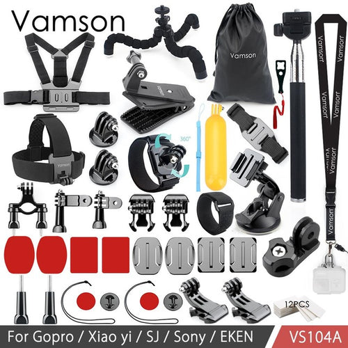 Vamson Action Camera Accessories Set