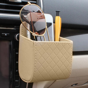 Car Vent PU Leather Hanging Tidy Pouch - Omigod, Dibs!™