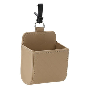 Car Vent PU Leather Hanging Tidy Pouch