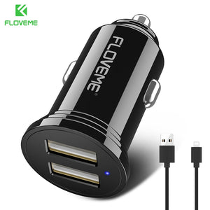 FLOVEME LED Dual USB Car Charger