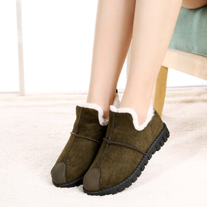 Women's Suede Fur Plush Ankle Boots