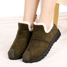 Load image into Gallery viewer, Women's Suede Fur Plush Ankle Boots