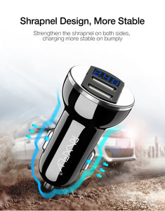 RAXFLY Dual USB Phone Car Charger