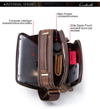 Load image into Gallery viewer, Contact's Crazy Horse Leather Men's Shoulder Bag - Omigod, Dibs!™