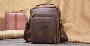 Contact's Crazy Horse Leather Men's Shoulder Bag - Omigod, Dibs!™